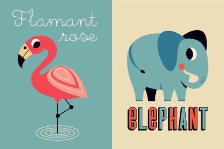 ingela arrhenius flamingo and elephant