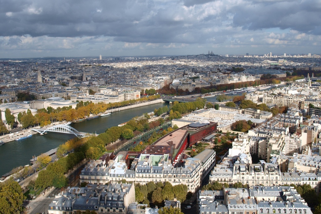 Paris, view from the Eiffel tower